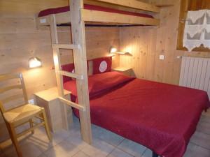 Chaudannes 12 - Chambre double avec lit savoyard